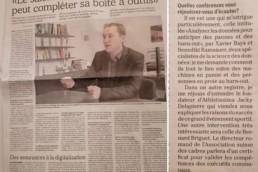 Article de La Gruiyère de M. Fehlmann sur le salon de l'entreprise