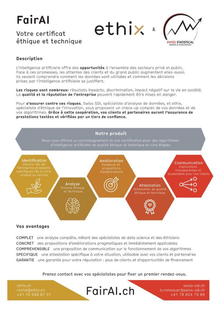FairAI - Votre certificat éthique et technique